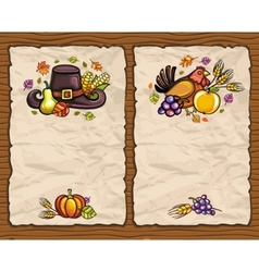 Thanksgiving cards vector