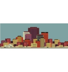 Background city streets in flat style vector