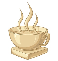 golden coffee cup vector image