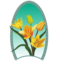 Yellow tulip vector