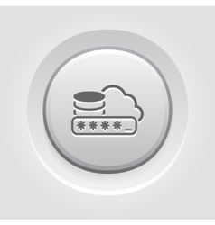 Secure cloud storage icon vector
