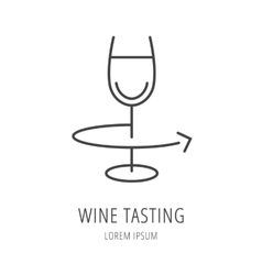 Simple logo template wine vector