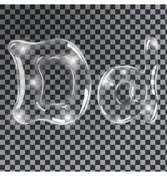 Bubbles letters d vector