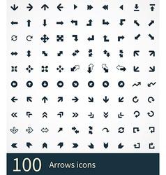 Arrows 100 icons vector