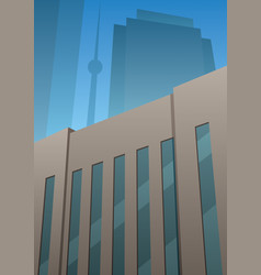 Art deco building vector