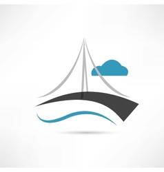 Big bridge icon vector