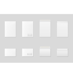 Blank paper envelopes vector image vector image