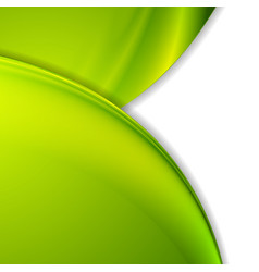 Bright green smooth wavy corporate background vector