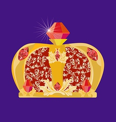 crown for carnival vector image