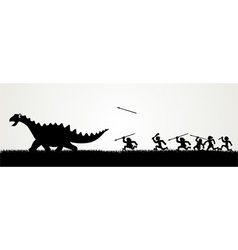 Dino hunting vector