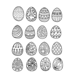 easter eggs color page vector image