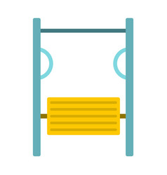 exerciser on playground icon flat style vector image