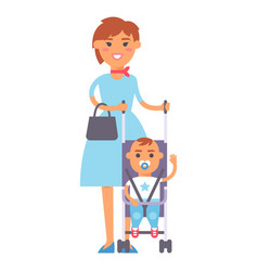 family people adult happiness smiling mother with vector image vector image