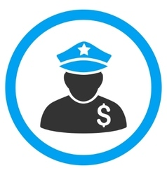 Financial policeman rounded icon vector