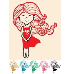 Little Girl 2 vector image