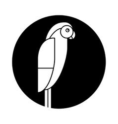 macaw parrot brazil pictogram vector image