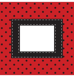 red background with black polka dots vector image vector image