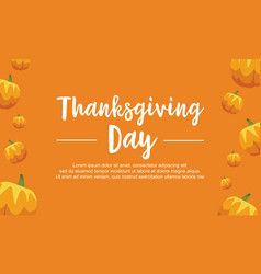 Thanksgiving day pumpkin background collection vector