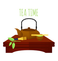 Traditional chinese tea concept vector