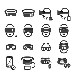 virtual reality icon vector image