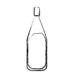 Wine bottle isolated vector