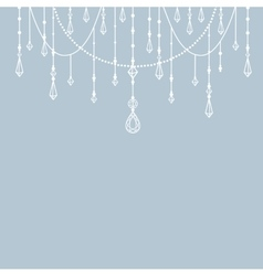 Background with beads and crystals vector