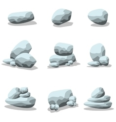 Collection rock set of art vector image