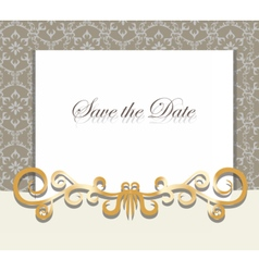Vintage Invitation card with ornaments vector image