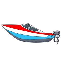 cartoon motorboat vector image