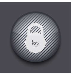 app circle striped icon on gray background Eps 10 vector image
