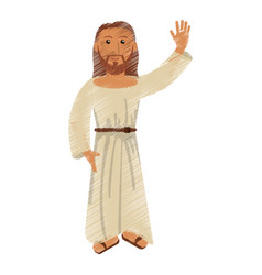 Drawing jesus christ christianity design vector
