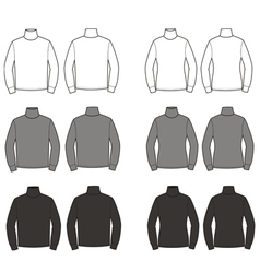 Turtlenecks vector