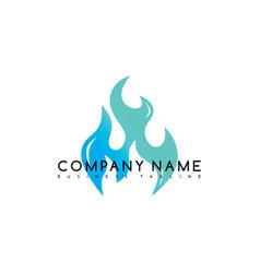 fire flame burn logo logotype template vector image