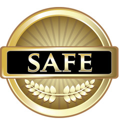 Safe gold icon vector