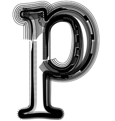 Abstract font letter p vector