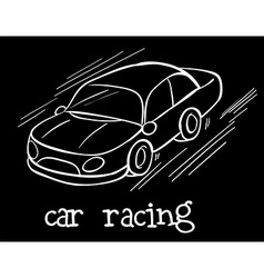 A car racing vector image