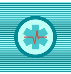 Heart first aid color flat icon vector