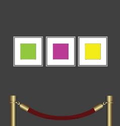 Art gallery vector