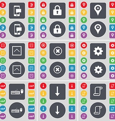 Sms lock checkpoint arrow up stop gear keyboard vector