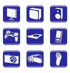 Electronics web icons vector