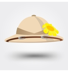 Pith helmet hat for safari vector