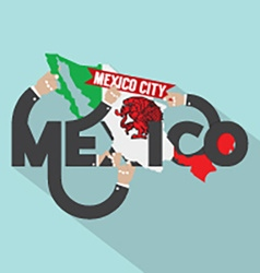 Mexico typography design vector