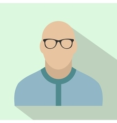 Bald man avatar icon vector