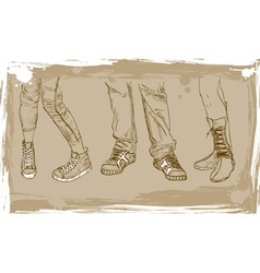 Sketch of shoes vector