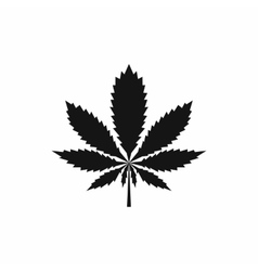 Marijuana leaf icon simple style vector