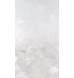 Abstract silver polygonal triangular background vector