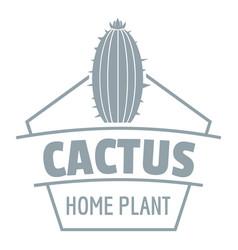 Art cactus logo simple gray style vector