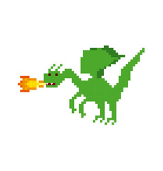 Dragon video game pixelated character vector