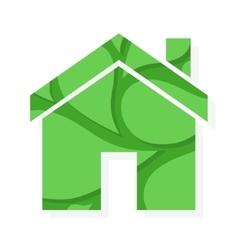 eco real estate logo or icon vector image