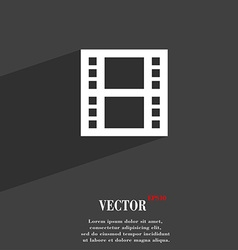 film symbol Flat modern web design with long vector image